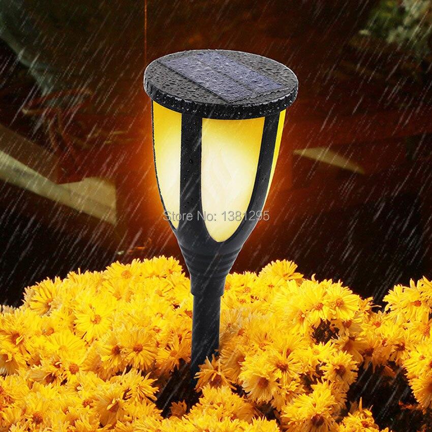 Светодиодный светильник на солнечных батареях, водонепроницаемая лампа для газона, мерцающий фонарь светильник, уличный фонарь для сада с ... - 6