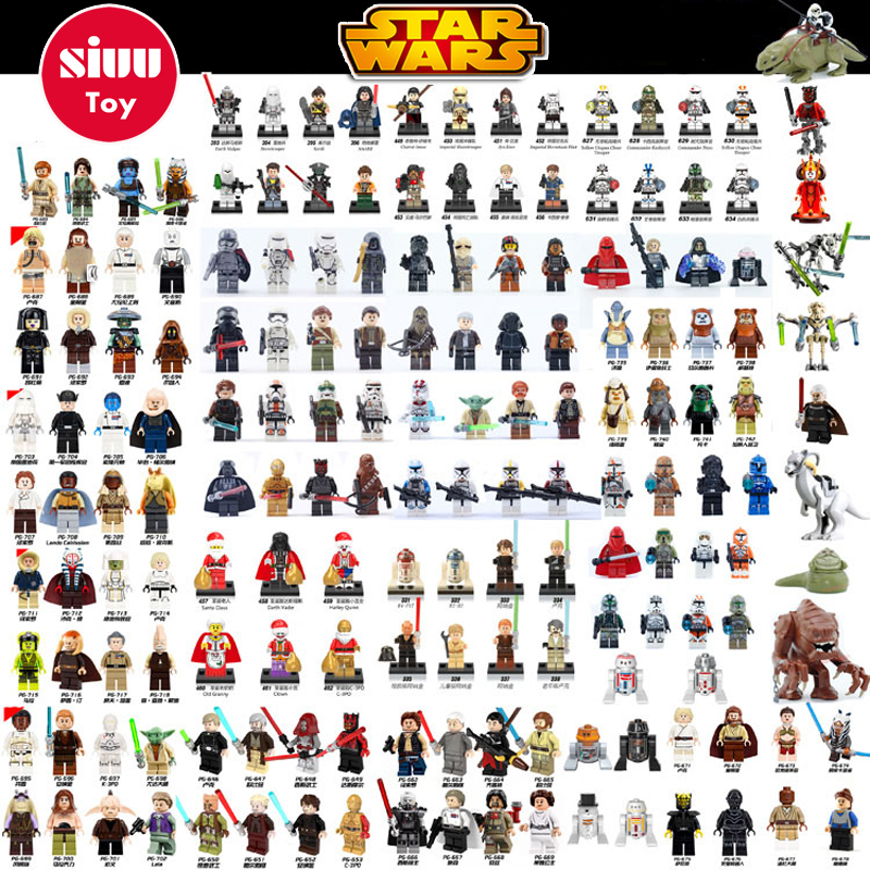 Single Sale legoing Star Wars  Building Block Han Solo Anakin Darth Vader Yoda Jar Jar Toys Compatible legoINGl starwars figures