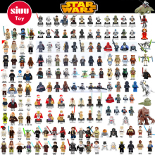 Single Sale legoing Star Wars Building Block Han Solo Anakin Darth Vader Yoda Jar Jar Toys Совместимые леговые рисунки starwars