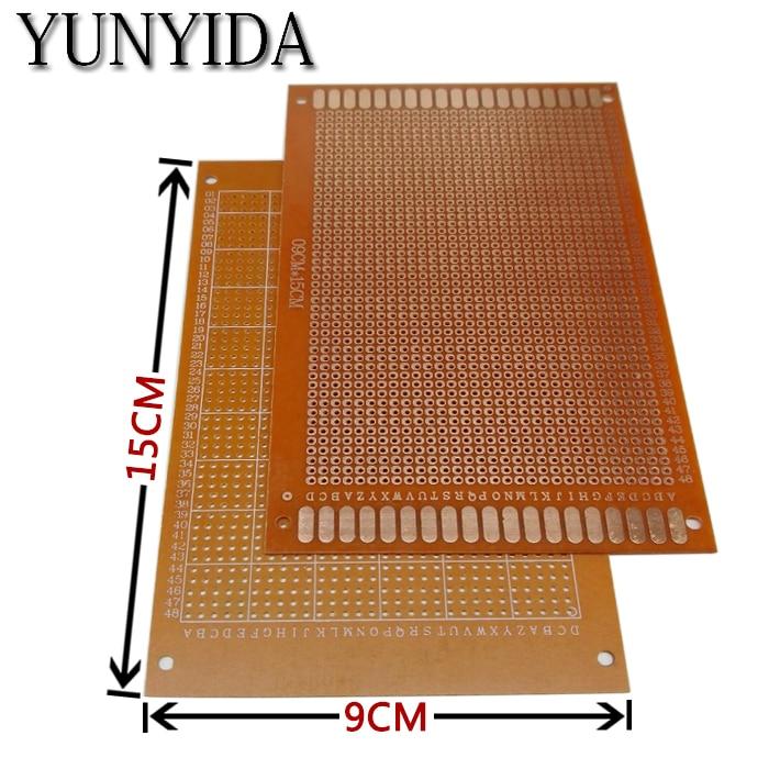 98-30 Free Shipping 1pcs 9x15cm Prototype Paper PCB Universal  Circuit Board