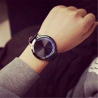 Reloj mujer Marke Kreative Minimalistischen Touchscreen Smart GEFÜHRTE Uhr Wasserdicht Herrenuhr Elektronik Casual Frauen Uhren montres