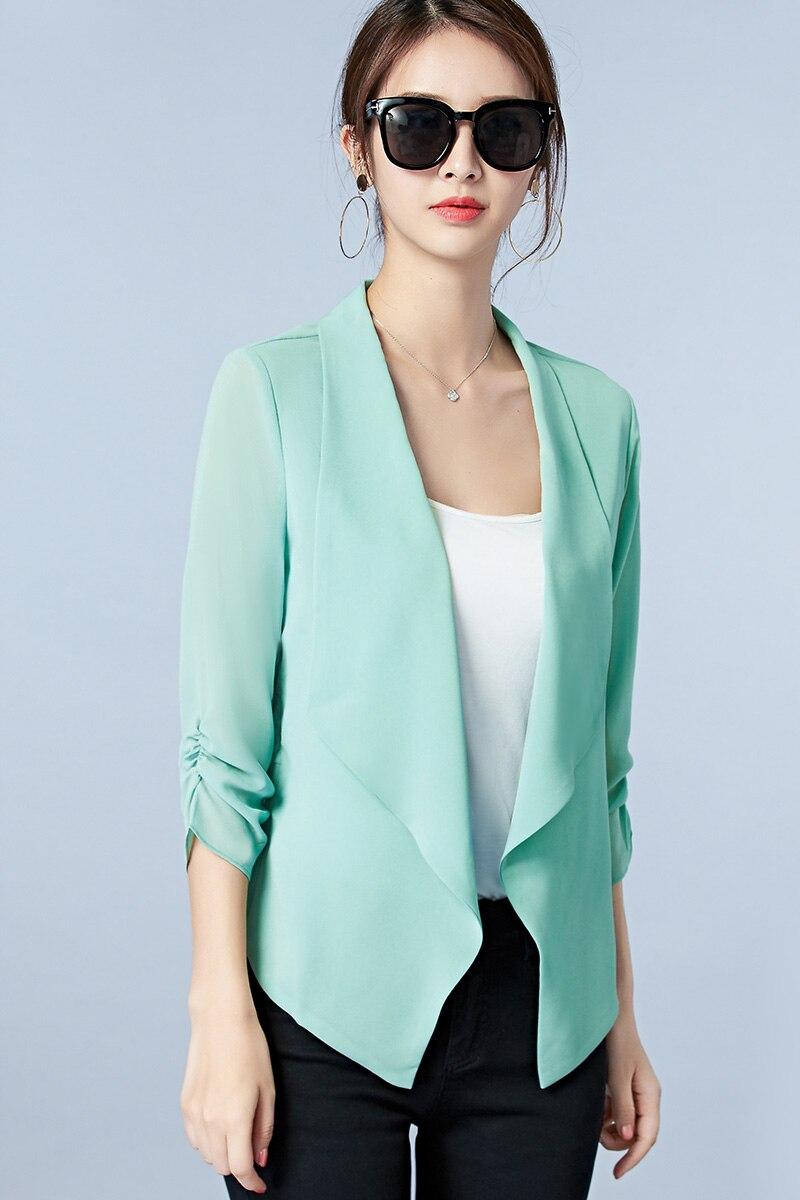 Summer Chiffon Cardigan Jacket Short Style Women Jacket Shawl Slim ...