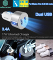 Nillkin Vigor Quick 5V 3.4A Two Dual USB Ports Car Charger For Meizu Pro 6 5 M3 M5 note M2 MX5 4 3