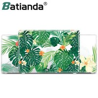Green Leaves Beautiful Petals Printed Plastic Case Cover For Macbook Air 11 13 12 Inch Pro