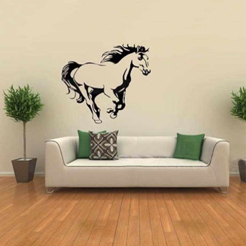 Galloping Horse Wall Murals Wall Art Cavalo Animal Poster Stencils - Wall decals horses