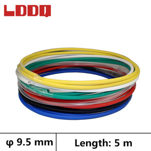 LDDQ 5m Shrinkable tube with glue 3:1 Dia 9.5mm Heat shrink Wire Wrap tubing Cable sleeve Waterproof guaina termorestringente