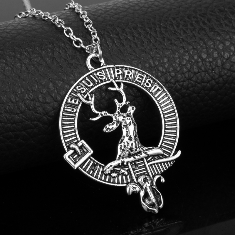 dongsheng New Female Elegant Neklace Jewelry Je Suis Prest Outlander Scottish Kilt Deer Pendant Choker Necklace Charms Pendants
