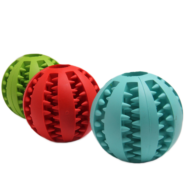 7CM 5CM Soft  Rubber Chew Toys Ball For Small Medium Large Dogs Toy Balls Chien Supplies Pet Training Playing Ball