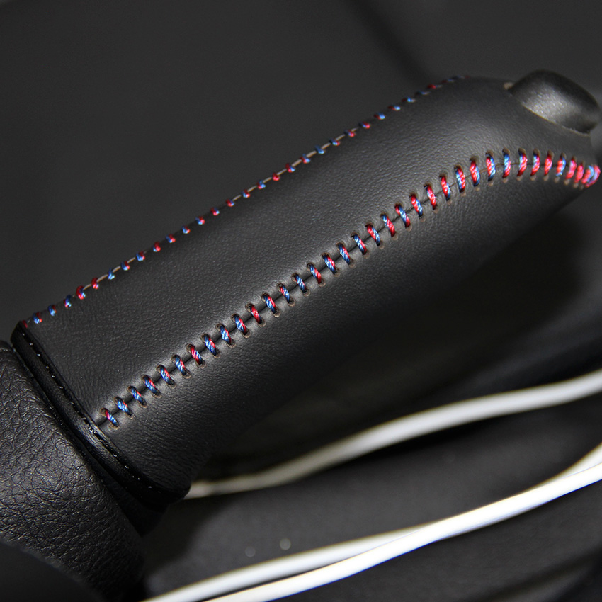 Case For 320i X1 M3 1 / 3 Series Handbrake Covers Genuine Leather Handbrake Grips Car Styling Interior Decoration
