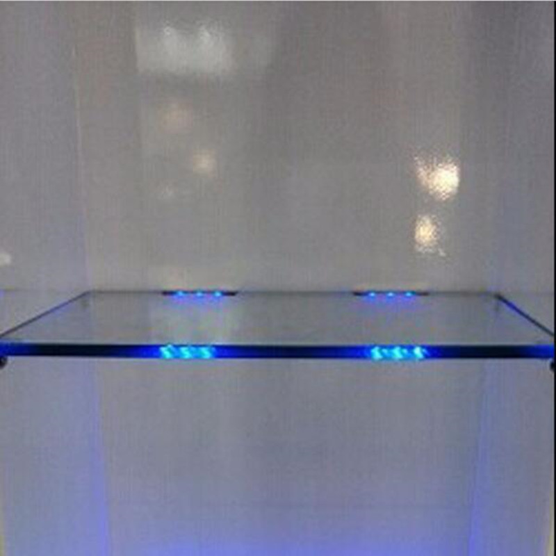 Us 2234 27 Offonder Kast Led Verlichting Voor Glas Rand Plank Terug Side Clip Klem Strip Verlichting 4 Lampen Kit Met Rf Afstandsbediening En