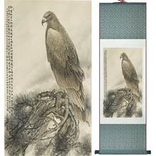 Eagle painting  Home Office Decoration Chinese scroll painting  eagle on Pine tree painting eagle picture SCGS2017120311 органайзер hynes eagle hynes eagle mp002xu0e3a0