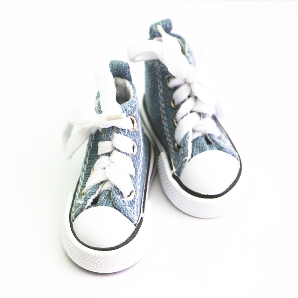 MagiDeal Мода 1 пара на шнуровке Высокая парусиновая обувь для хип-хопа для 1/4 полный Размеры BJD куклы ежедневно носить Танцы шоу аксессуар подар...