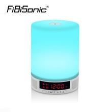 Wireless Bluetooth alarm clock speaker intelligent emotional audio light small table lamp led night light Digital  Desktop clock