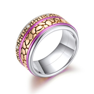 Image 5 - Floya נמר Stackable טבעת לנשים Rotatable נירוסטה להקת מלטה את הארקטי סימפוניה טבעות סט אוסף תכשיטים