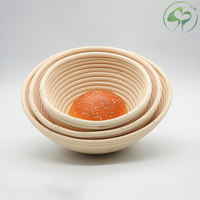 Round Natural Rattan Bread Fermentation Basket For European Style Bread Fermentation And Molding Countryside Style