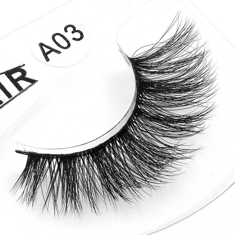 ca52f81cd90 ... 2018 New Mink Lashes 3D Mink Eyelashes Invisible Band Natural Black  Mink False Eyelash Full Strip ...