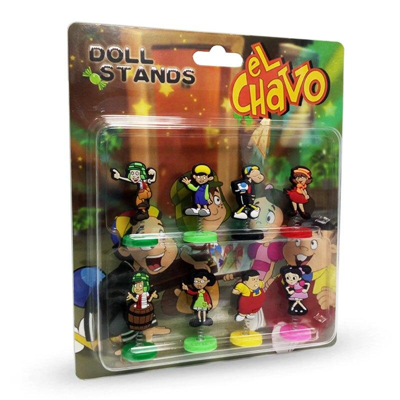 8pieces Set El Chavo Spring Doll Pvc Capsule Toys High