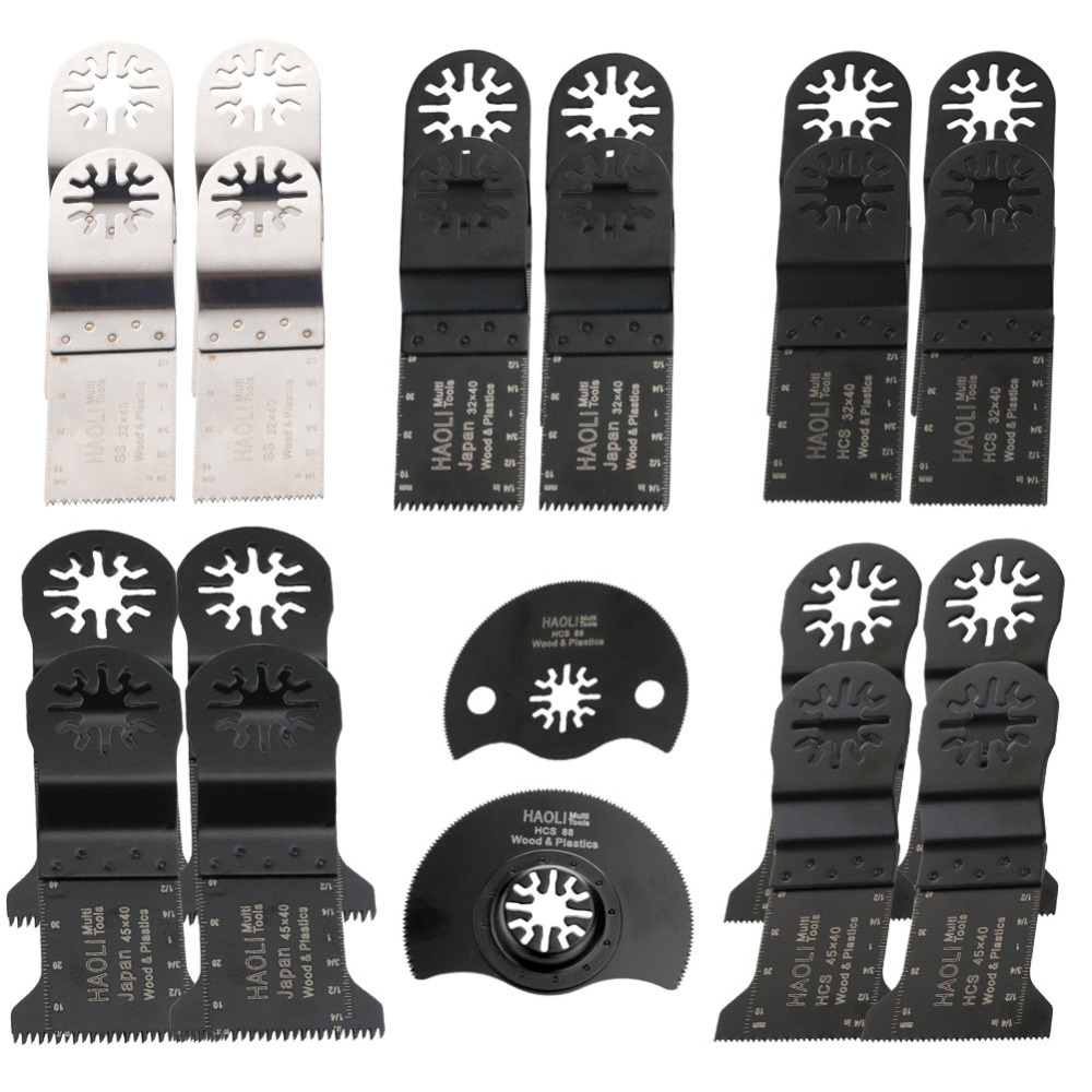 ФОТО 22 pcs 32-45mm Oscillating Multi Tool saw blades fit for TCH,Fein,Dremel etc,multifunction power tool,wood cutting
