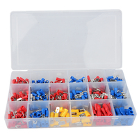 330pcs Assorted Full Insulated Fork U-type Set Terminals  Connectors Assortment Kit Electrical Crimp Spade Ring