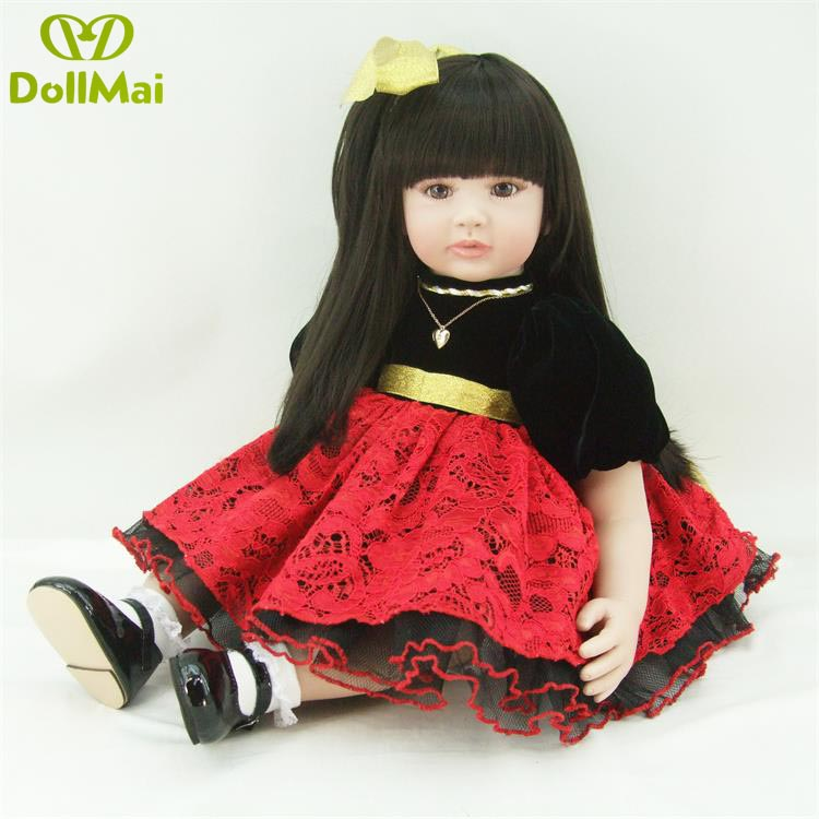 60cm reborn princess girl dolls vinyl silicone reborn baby dolls toys for children gift real adorable doll oyuncak bebek60cm reborn princess girl dolls vinyl silicone reborn baby dolls toys for children gift real adorable doll oyuncak bebek