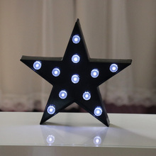 DELICORE Cute Black Star With Diamond LED Night Light Baby Room Sleeping Light Bedroom Desk Lamp Night Lamp Of Best Gifts