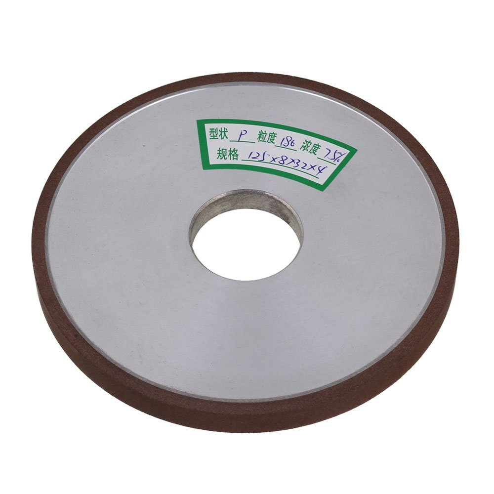 180# Grit Flat Disc Straight 125mm Silver Diamond Aluminum Resin Grinder Thickness 8mm Grinding Wheel