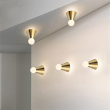 Modern Light Cone Ceiling Led Wall Lamps Lights Bedroom Living Room Corridor Art Wall Sconce Lamp Light Fixtures Luminaria Avize modern magic bean double head wall lamp ceiling hanging wall light corridor lights edison wall sconce lamps for cafe restaurant
