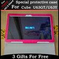 Мода защитная крышка чехол Для Cube U63GT 9.6 дюймов Tablet PC, для Cube U63 Складной поддержка защитный рукав Freeshipping