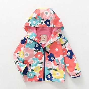 M04 Spring Autumn printing Windbreaker Child Thick Polar Fleece Lining Jacket Hoodies Boy Keep Warm Coat kids Tops Girl Outwear