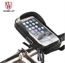 WHEEL UP Bike Bag 6 inch MTB Bicycle TPU Touch Screen Phone Rainproof Front Zipper Bags Waterproof GPS Cycling Pouch Panniers