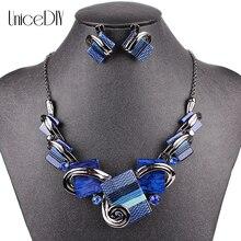 MS20676 ювелирные изделия наборы высокое качество ожерелье наборы для женщин ювелирные изделия разноцветные смолы Кристалл Уникальный Дизайн подарки
