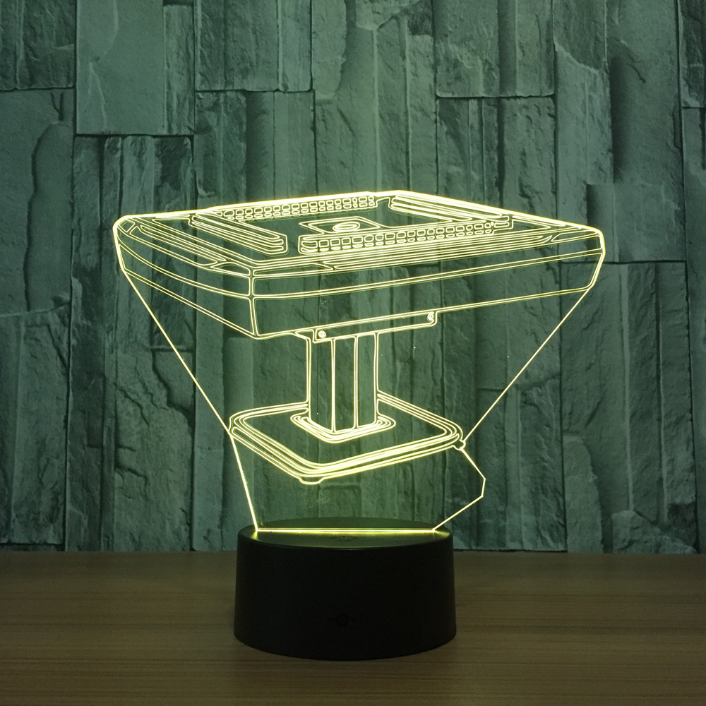 Mahjong Game Desk 3D Night Light Usb LED 7 Colors Changing Lamp Touch Switch Decorative Lampara Lumineuse Bedside Table Lamp Toy