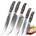 XINZUO Высококачественный нож для очистки овощей  нож шеф-повара Santoku  кухонные инструменты из нержавеющей стали  наборы кухонных ножей  деревя...