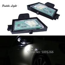 цена на 2pcs Car LED Side Under Mirror Puddle Light for Volkswagen VW GOLF 7 VII MK7 White  Error Free 6  LEDs