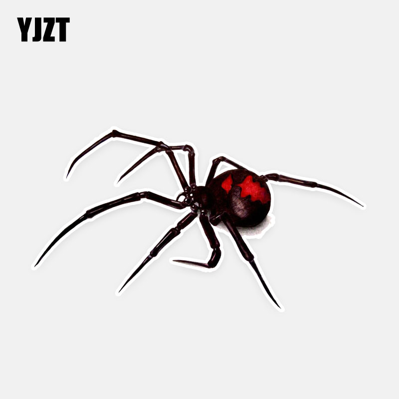 Us 1 01 40 Off Yjzt 13 8 7 5cm Black Widow Spider Decor Car Stickers Personality High Quality 11a0580 In Car Stickers From Automobiles Motorcycles