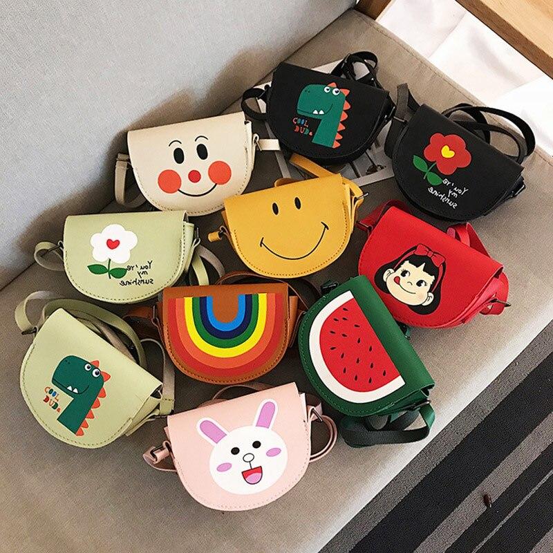 2020 New Toddler Baby Small Messenger Bags Children Kids Girls Princess Shoulder Bag Cute Cartoon Printing Princess Coin Purses