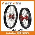"1.6X21""&2.15X19"" Wheel Hub Rim Set For Honda CRF250R 04-13 CRF450R 02-12 CRF250X CRF450X 05-15 CR125 CR250 00-07 CRF Motocross"