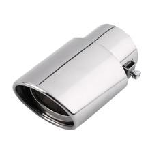 Новая Универсальная хромированная круглая выхлопная труба из нержавеющей стали для автомобиля, глушитель, наконечник Великобритании, Лидер продаж, автомобильные аксессуары