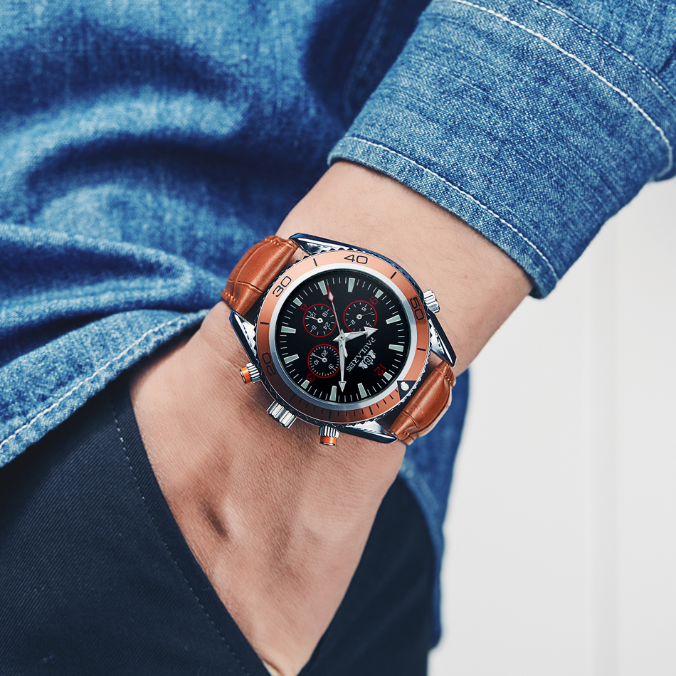 HTB1la0ZXuuSBuNjSsplq6ze8pXaQ Men Automatic Self Wind Mechanical Stainless Steel Strap James Bond 007 Style Orange Blue Black Dial Bezel Classic Watch