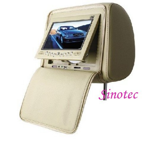Free Shipping DVD Multi Media Car Headrest DVD Entertainment Center with 7 Inch TFT LCD