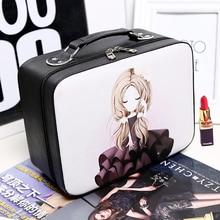 2017 neue Kosmetische box weibliche professionelle PU kosmetiktasche frauen große kapazität lagerung handtasche reisen kulturverfassungsbeutel