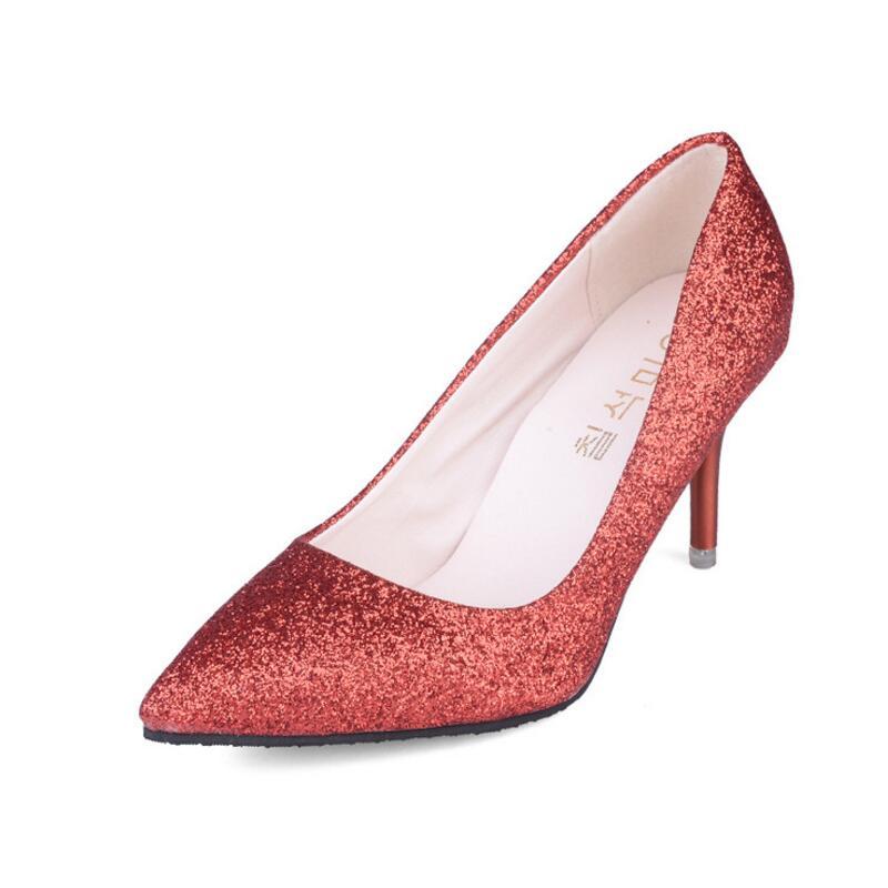 Temperamento Alto Superficial Lentejuela 2018 Color Señaló Boda Aike Asia Para photo Elegante Nueva Color Zapatos Photo De Mujer Tacón It85vqw