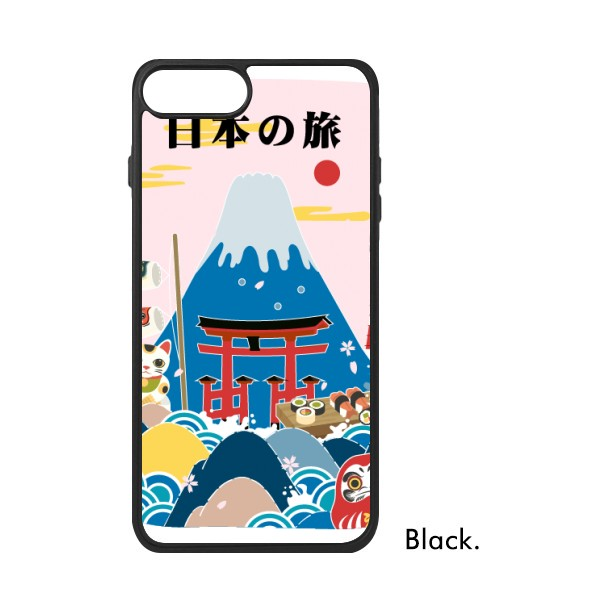Japan Fuji mountain Dumpling japaness Red Sun Koi Fish country Map Girl Phone Case 678P for iPhone XS Max Cases Phonecase Cover