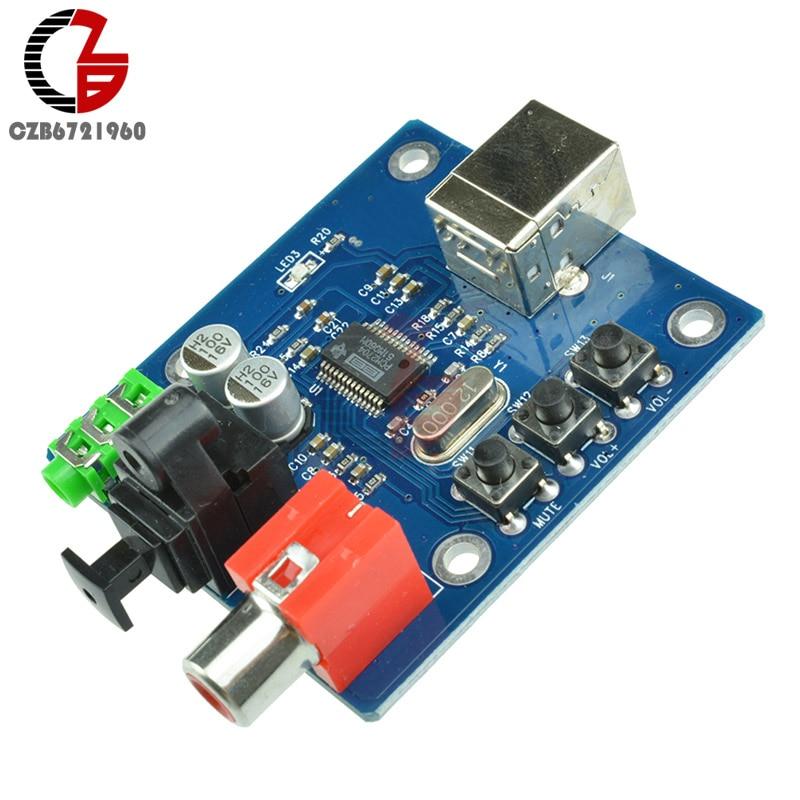 PCM2704 USB DAC to S/PDIF Sound Card Decoder Board 3.5mm Output F/PC 10pcs lot 5v usb powered pcm2704 mini usb sound card dac decoder board for pc computer