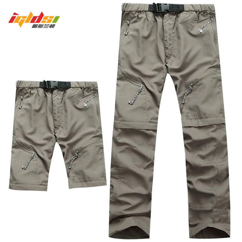 Detachable Quick Dry Men Pants 2018 Summer Waterproof Military Active Multifunction Trousers Pockets Women's Casual Cargo Pants