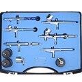 6 pcs Diferente Professional Mini Kit Aerógrafo de Dupla Ação Airbrushes Definir 0.25/0.3/0.35mm Agulha Escova De Ar para o Corpo Do Prego Pintura