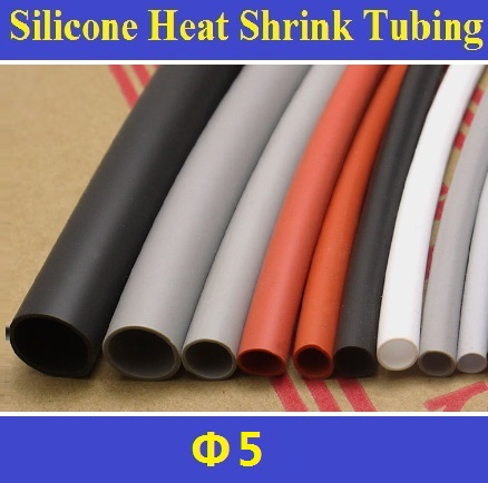 5mm  Flexible Soft 1.7:1 Silicone Heat Shrink Tubing Brand New High Quality Free Shipping - 2 Meters