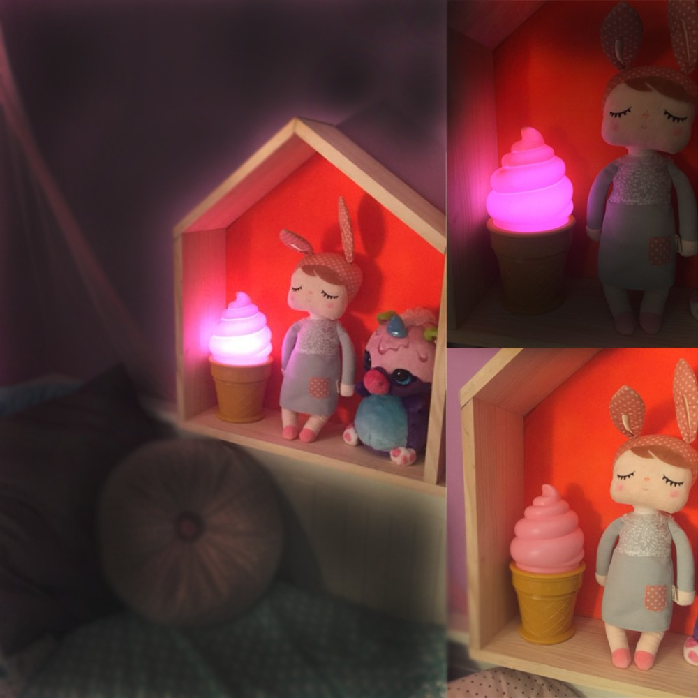 Bedroom romantic lighting - Baby Room Touch Led Nightlight Bedroom Light Romantic Novelty Night Light Lamp Battery Powered Ice Cream