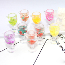 10pcs/lot Fruit Goblet Resin Charms 19*38mm Wine Acrylic Pendant Floating DIY Earrings Fit Jewelry Handmade Material YZ395