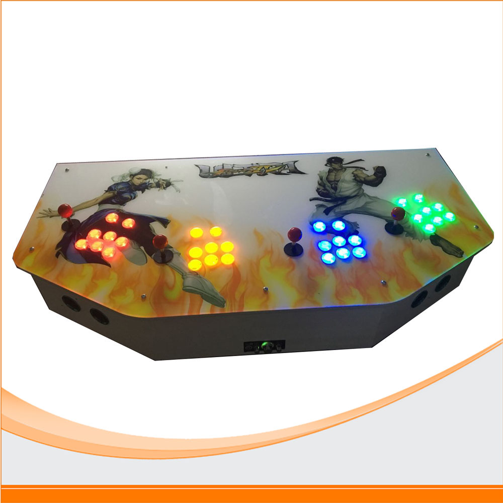 The factory price 4 players arcade game console with 2100 in 1 games sanwa button and joystick use in video game console with multi games 520 in 1